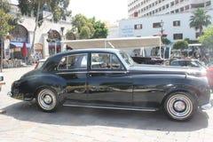 古董车展示直布罗陀 免版税库存照片