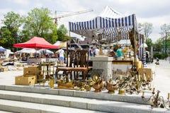 古董销售在扎科帕内,波兰 免版税库存图片