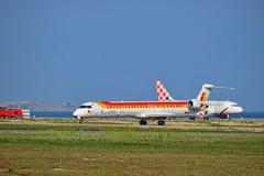 古西班牙空气Nostrom飞机 库存照片