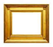 古金色木头框架 免版税库存图片