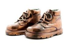 古铜开玩笑对鞋子 免版税库存图片