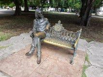 古铜的约翰・列侬 图库摄影