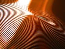 古铜盘旋铜凹线环形眩晕 库存图片
