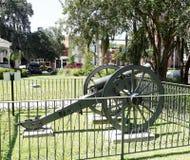 古铜色南北战争大炮Bainbridge乔治亚 免版税库存照片