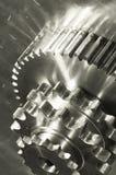 古铜色双重齿轮光机械 库存照片