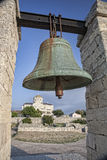 古铜色响铃在Chersonesos在克里米亚,乌克兰 库存图片