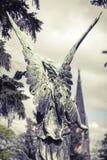 古铜色天使 第18个cen的未知的艺术家 免版税图库摄影