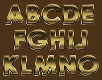 古铜色字体page1 免版税库存图片