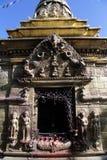古铜色寺庙 库存图片