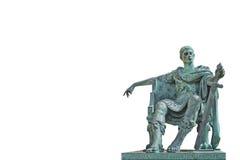 古铜色康斯坦丁雕象 库存图片