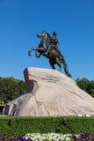古铜色御马者在圣彼得堡 免版税图库摄影