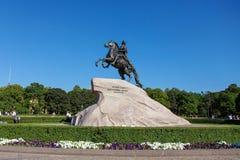 古铜色御马者在圣彼得堡 图库摄影