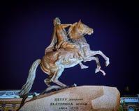 古铜色御马者纪念碑 免版税库存照片
