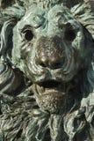古铜色意大利狮子雕象威尼斯 免版税库存图片