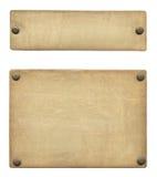 古铜色标签 免版税库存图片