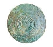 古铜色特尔斐希腊博物馆盾 库存图片