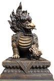 古铜色狮子雕象 免版税库存图片