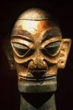 古铜色瓷金子sanxingdui四川雕象 免版税库存图片