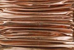 古铜色织品纹理 免版税库存照片
