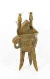 古铜色酒杯汉语 免版税库存图片