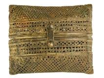 古铜色金银细丝工的印第安钱包 图库摄影