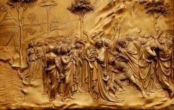 古铜色门佛罗伦萨 免版税图库摄影