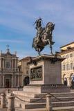 古铜色雕象在都灵,意大利 免版税图库摄影