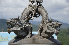 古铜色雕象,普吉岛,泰国 库存图片