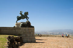 古铜色雕象,罗得岛纪念品 免版税库存图片
