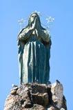 古铜色雕象 巴列塔 普利亚 意大利 库存图片