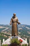 古铜色雕象 瓜尔迪亚佩尔蒂卡拉 巴斯利卡塔 意大利 免版税库存图片