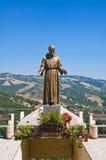 古铜色雕象 瓜尔迪亚佩尔蒂卡拉 巴斯利卡塔 意大利 库存照片