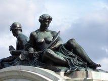 古铜色雕象 库存图片