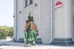 古铜色雕象 免版税库存照片