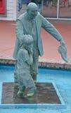 古铜色雕象 免版税库存图片