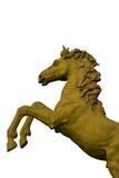 古铜色马雕象 图库摄影
