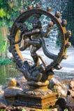 古铜色shiva雕象 库存图片