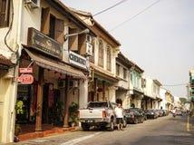 古镇在Melaka,马来西亚 库存照片
