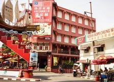 古镇在Melaka,马来西亚 图库摄影