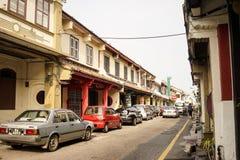 古镇在Melaka,马来西亚 免版税图库摄影