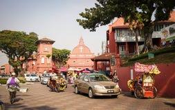 古镇在Melaka,马来西亚 免版税库存图片