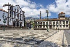 古镇大厅在丰沙尔,马德拉岛 免版税库存图片