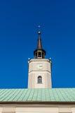 古镇霍尔的钟楼 免版税库存图片