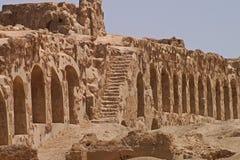 古镇Arrassafeh废墟在Raqqa附近的在叙利亚 免版税库存照片