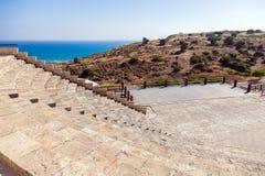 古镇Kourion废墟塞浦路斯的 免版税库存照片