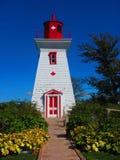 古雅灯塔爱德华王子岛加拿大 免版税库存照片