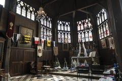 古雅矮小的中世纪教堂在翁夫勒诺曼底 免版税库存图片