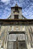 古雅矮小的中世纪教堂在翁夫勒诺曼底 库存图片