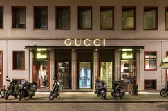 古驰商店在米兰 库存图片