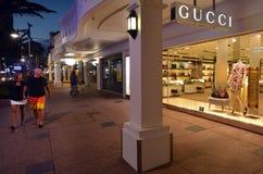 古驰商店在英属黄金海岸昆士兰澳大利亚 免版税库存照片